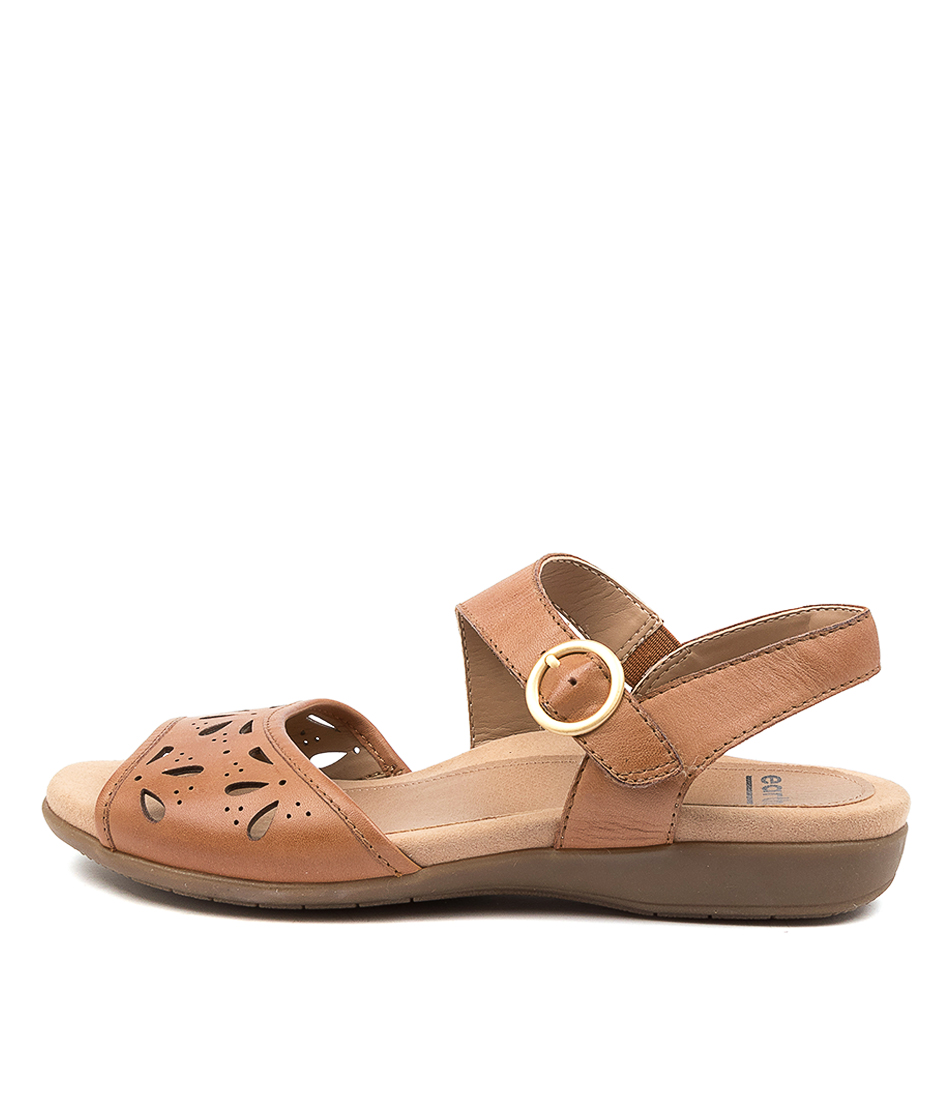 Buy Earth Arvi Ea Sand Brown Flat Sandals online with free shipping