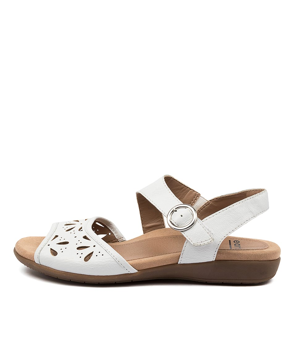 Buy Earth Arvi Ea White Flat Sandals online with free shipping