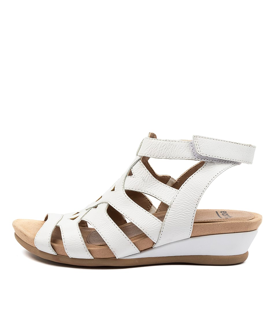 Buy Earth Chatham Ea White Flat Sandals online with free shipping