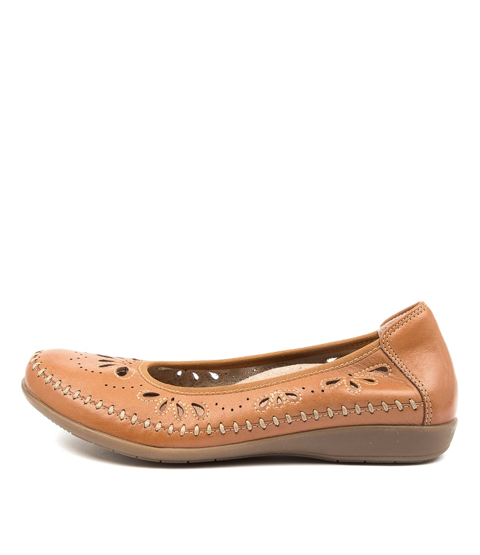 Buy Earth Azza Ea Sand Brown Flats online with free shipping