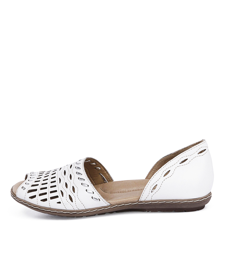 Earth Shore White Sandals