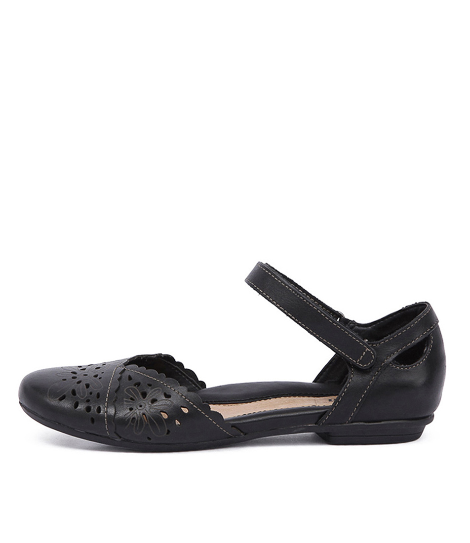 Earth Belltower Black Casual Flat Shoes