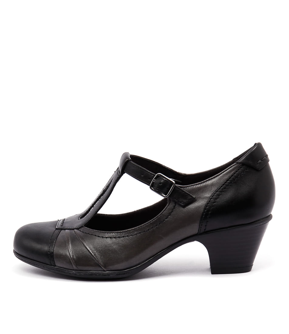 Earth Wanderlust Black Heeled Shoes