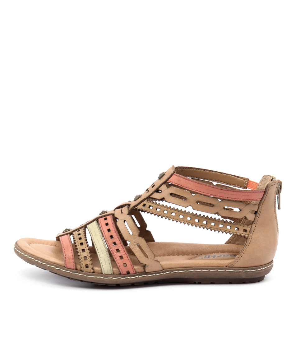 Earth Bay Ea Brown Multi Sandals