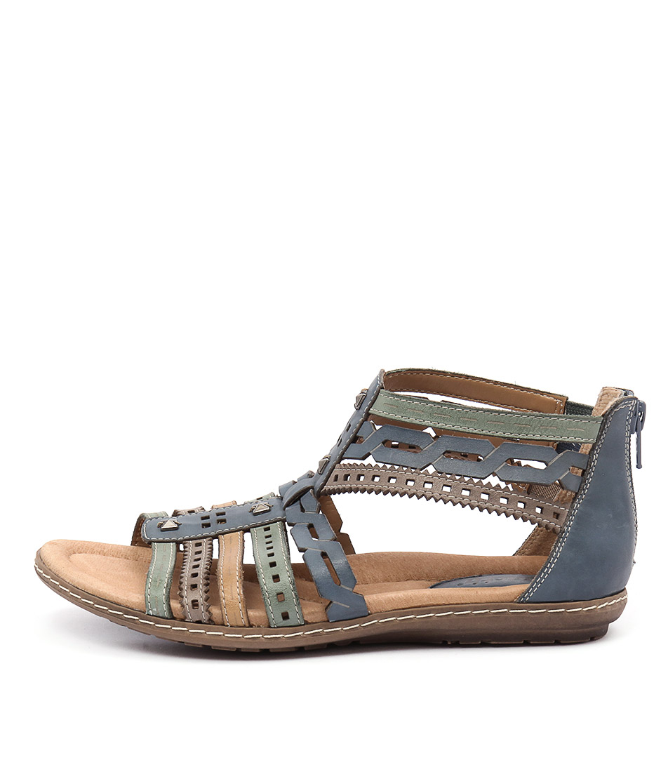 Earth Bay Ea Blue Multi Sandals