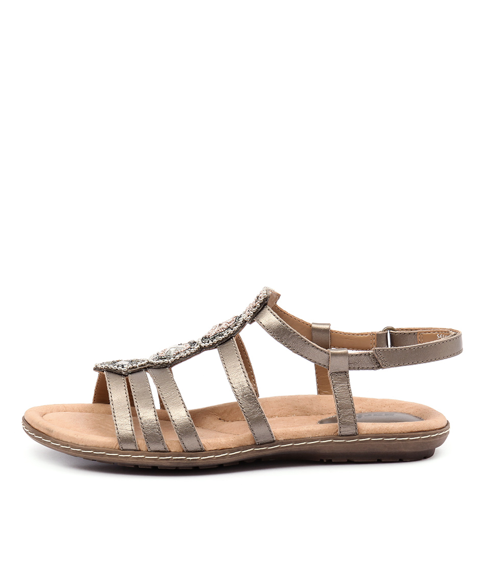Earth Seaside Platinum Sandals