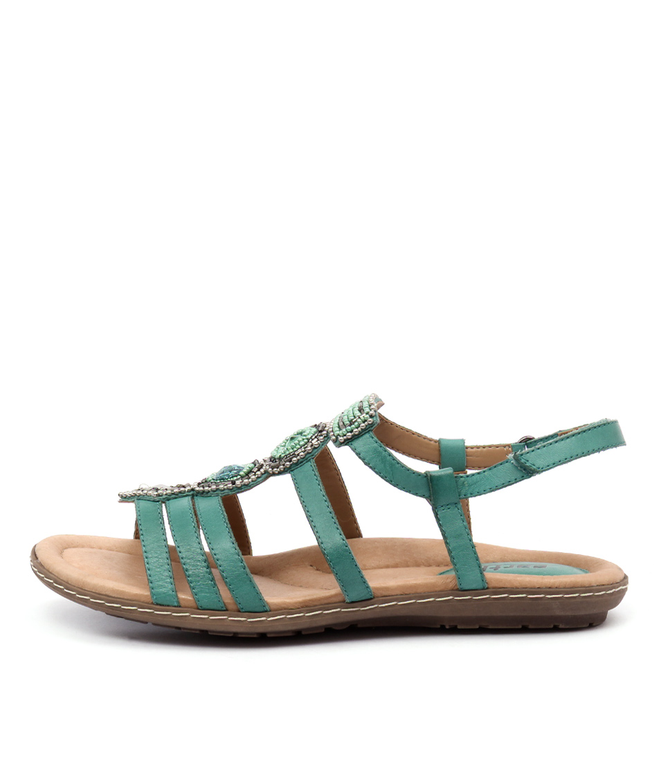 Earth Seaside Teal Casual Flat Sandals
