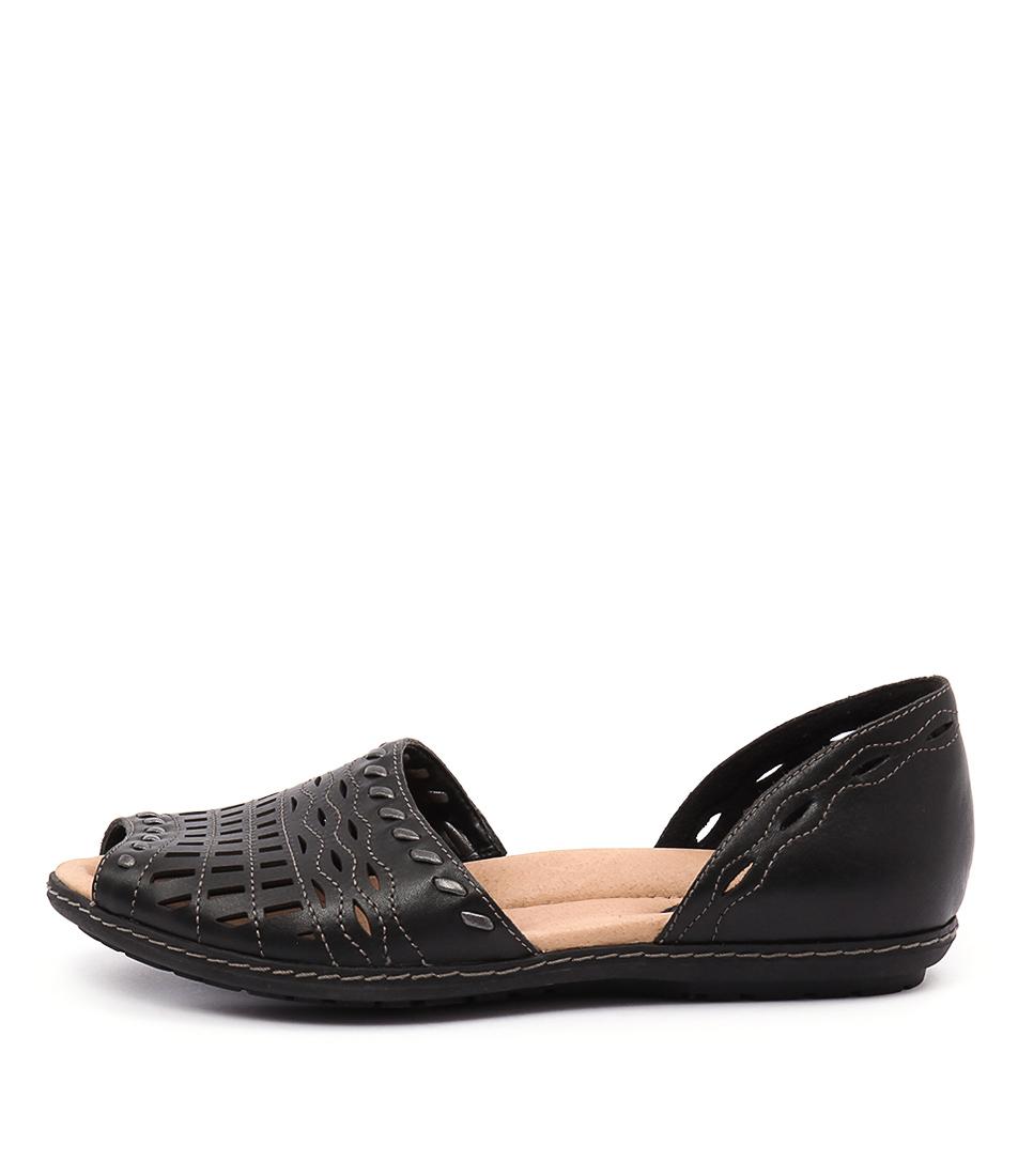 Earth Shore Black Sandals