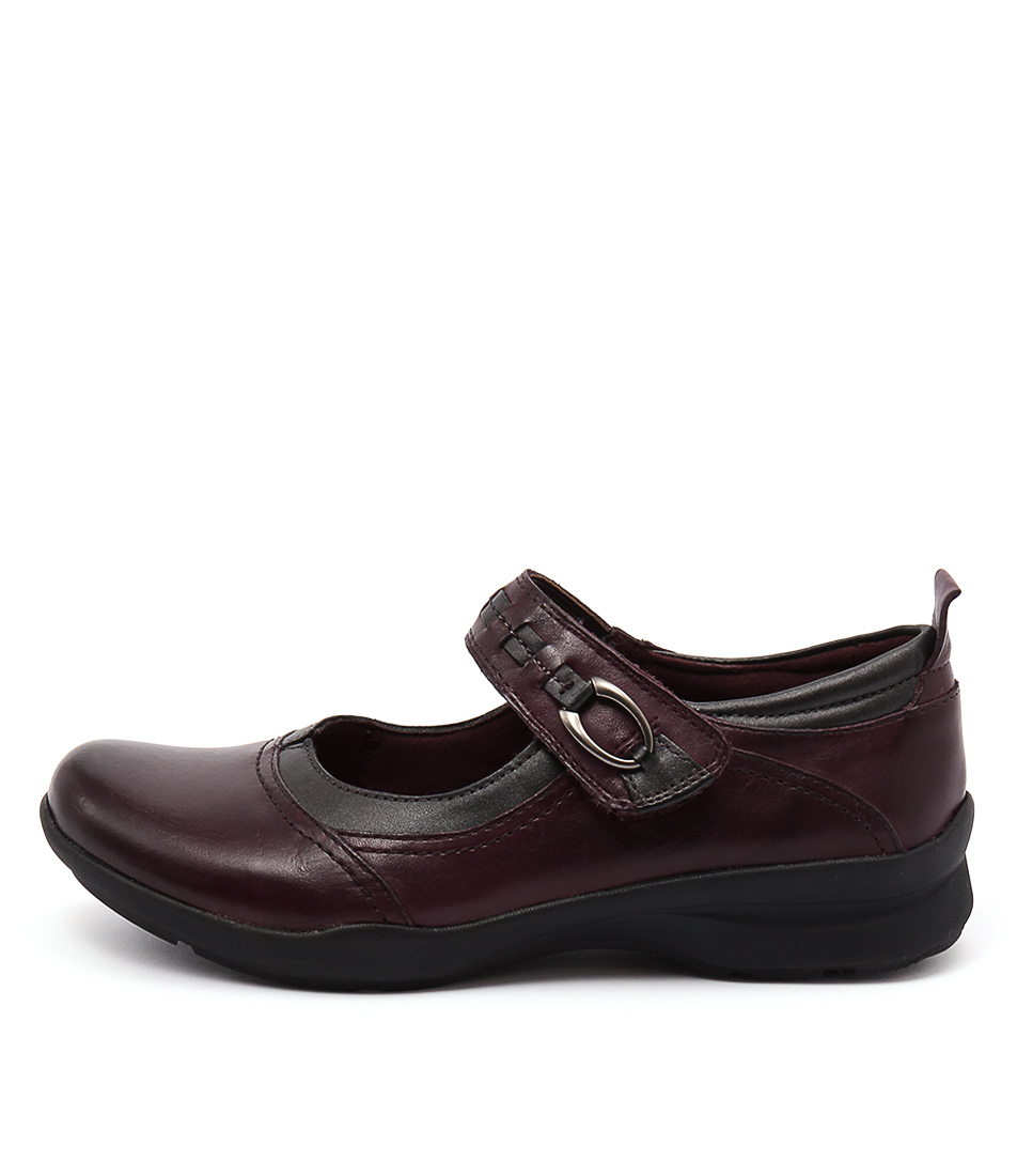 Earth Angelica Prune Casual Heeled Shoes