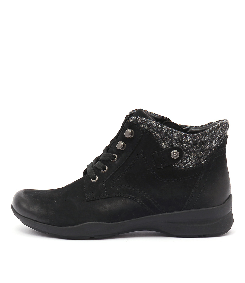 Earth Davana Black Casual Ankle Boots buy  online