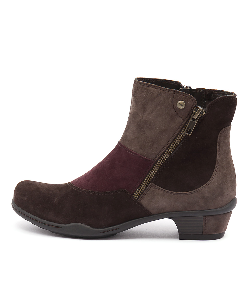 Earth Orion Ea Bark Multi Ankle Boots