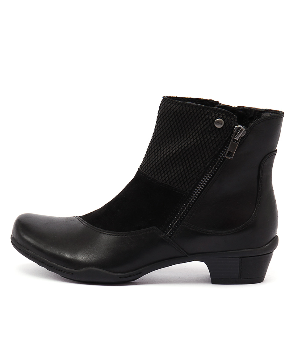 Earth Orion Ea Black Ankle Boots