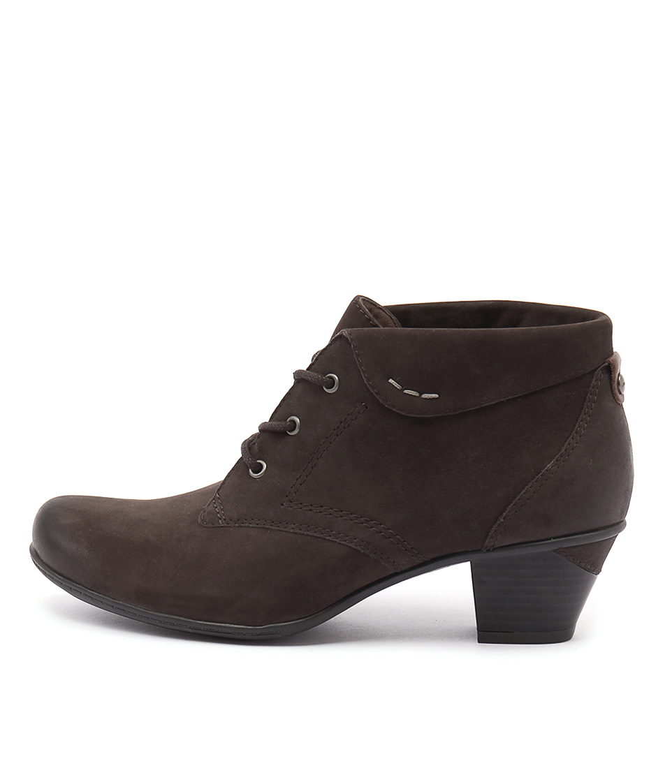 Earth Teak Dark Brown Ankle Boots