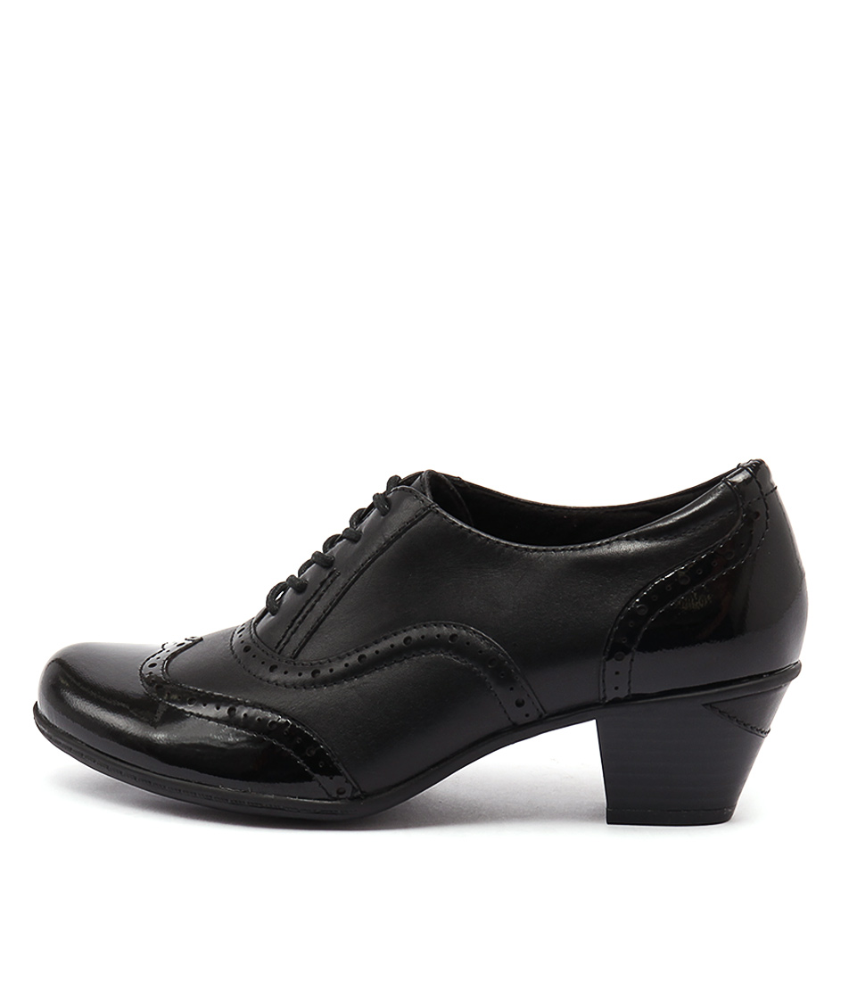 Earth Fennel Black Casual Heeled Shoes