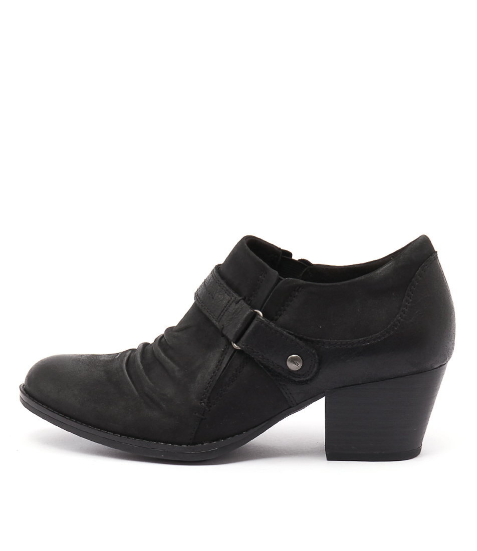 Earth Angel Black Heeled Shoes