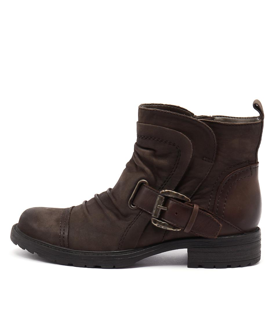 Earth Jericho Ea Vintage Stone Ankle Boots