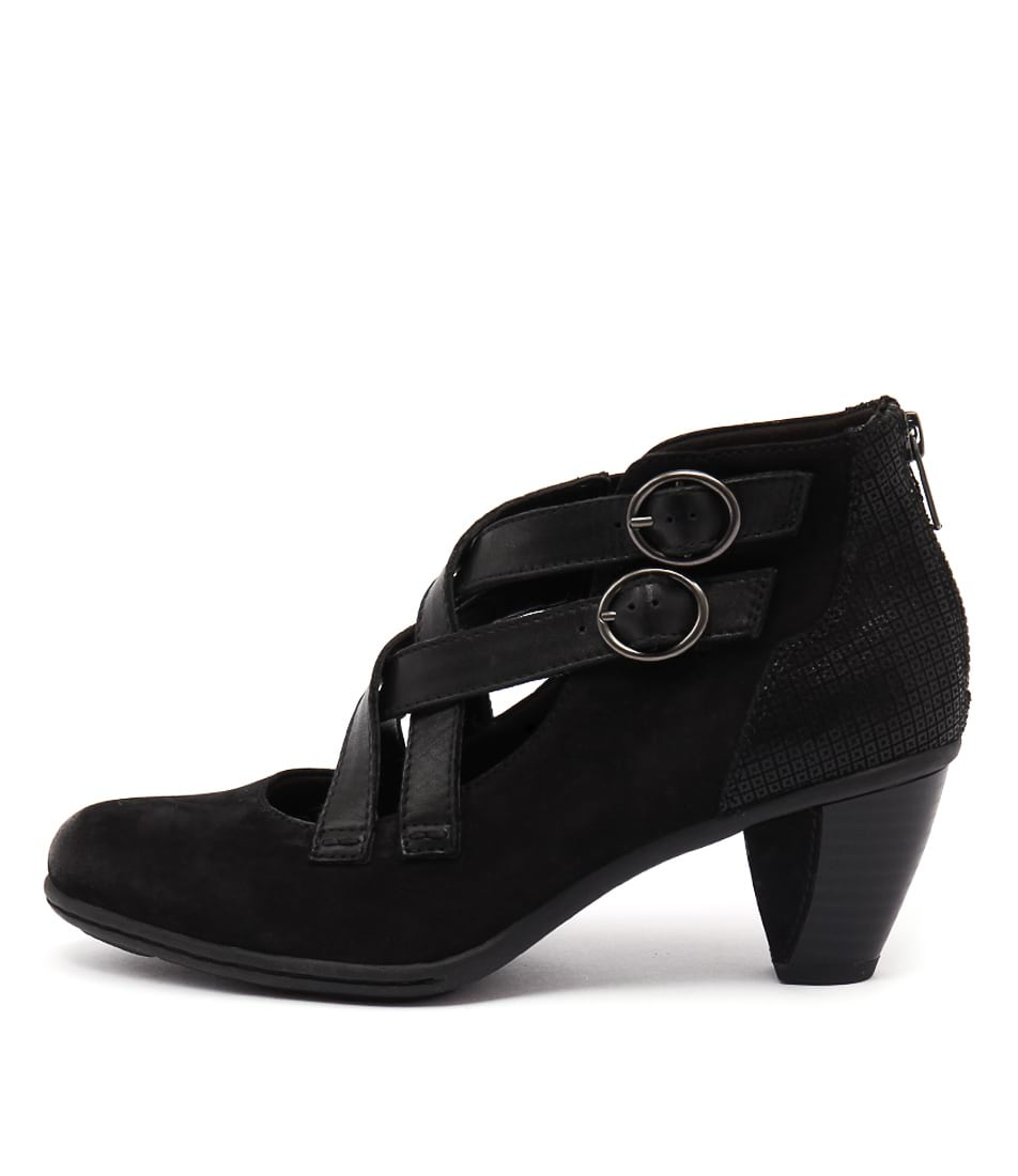 Earth Amber Ea Black Heeled Shoes