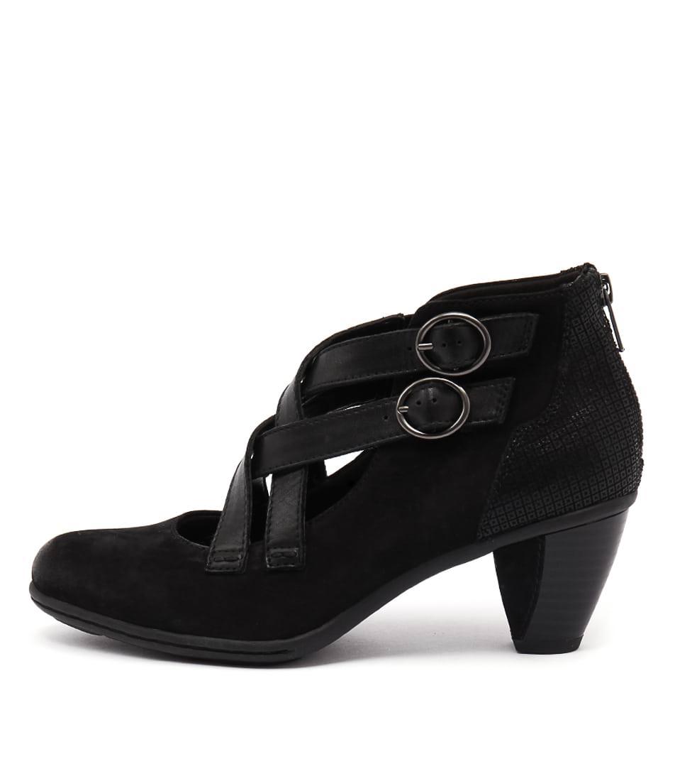 Earth Amber Ea Black Casual Heeled Shoes