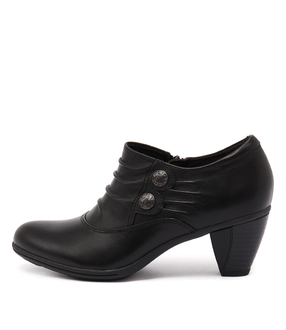 Earth Amethyst Black Casual Heeled Shoes