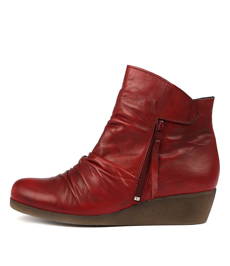 Effegie Ensoni W Red Ankle Boots