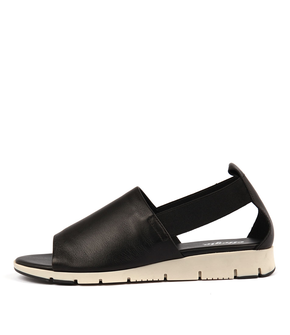 Effegie Aeris W Black Flat Sandals