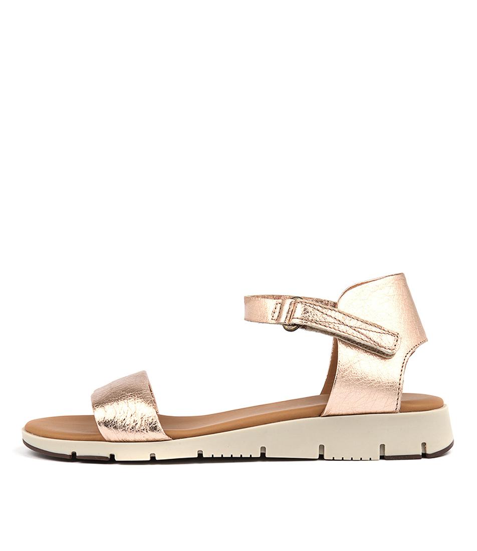 Effegie Aeria W Rose Gold Comfort Flat Sandals