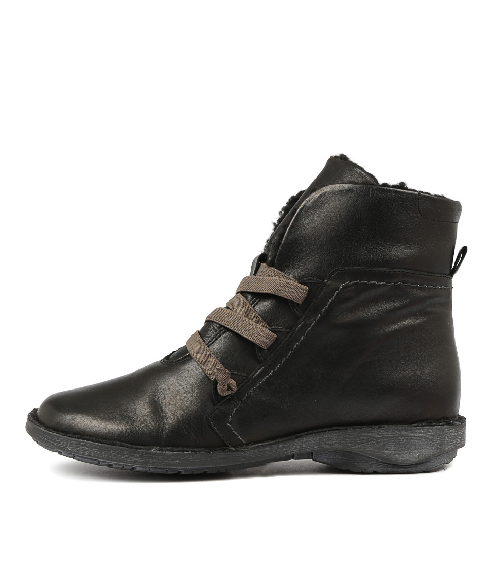 Buy Effegie Pan W Black Ankle Boots online with free shipping