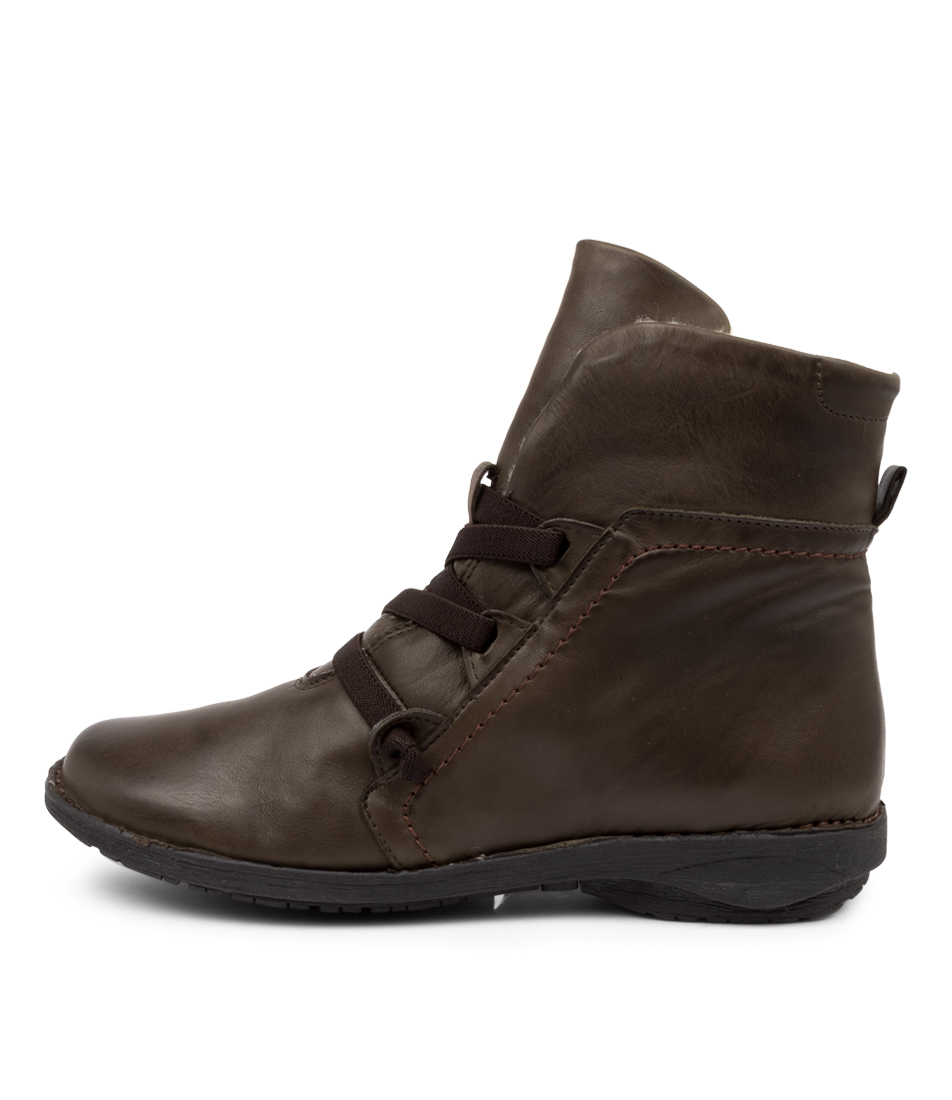Buy Effegie Pan W Khaki Ankle Boots online with free shipping