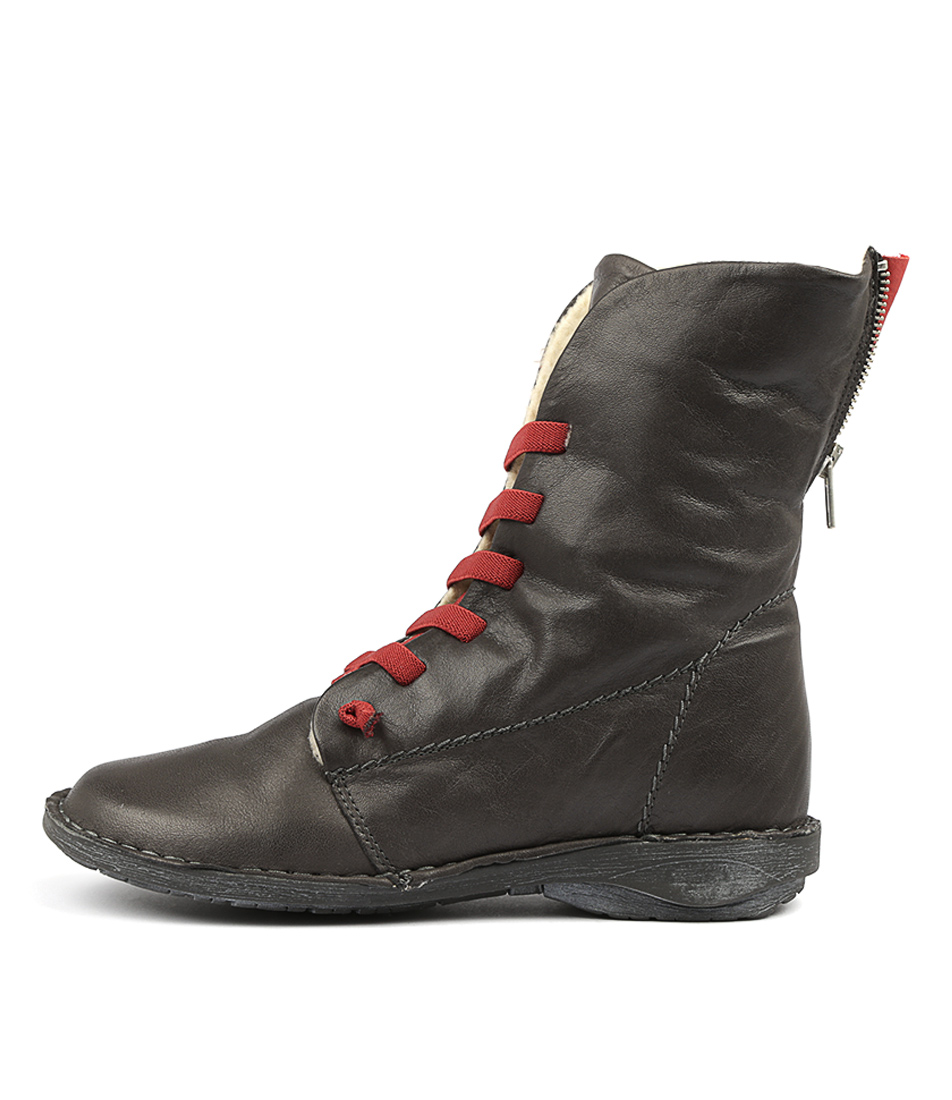 Buy Effegie Panama W Dark Grey Ankle Boots online with free shipping
