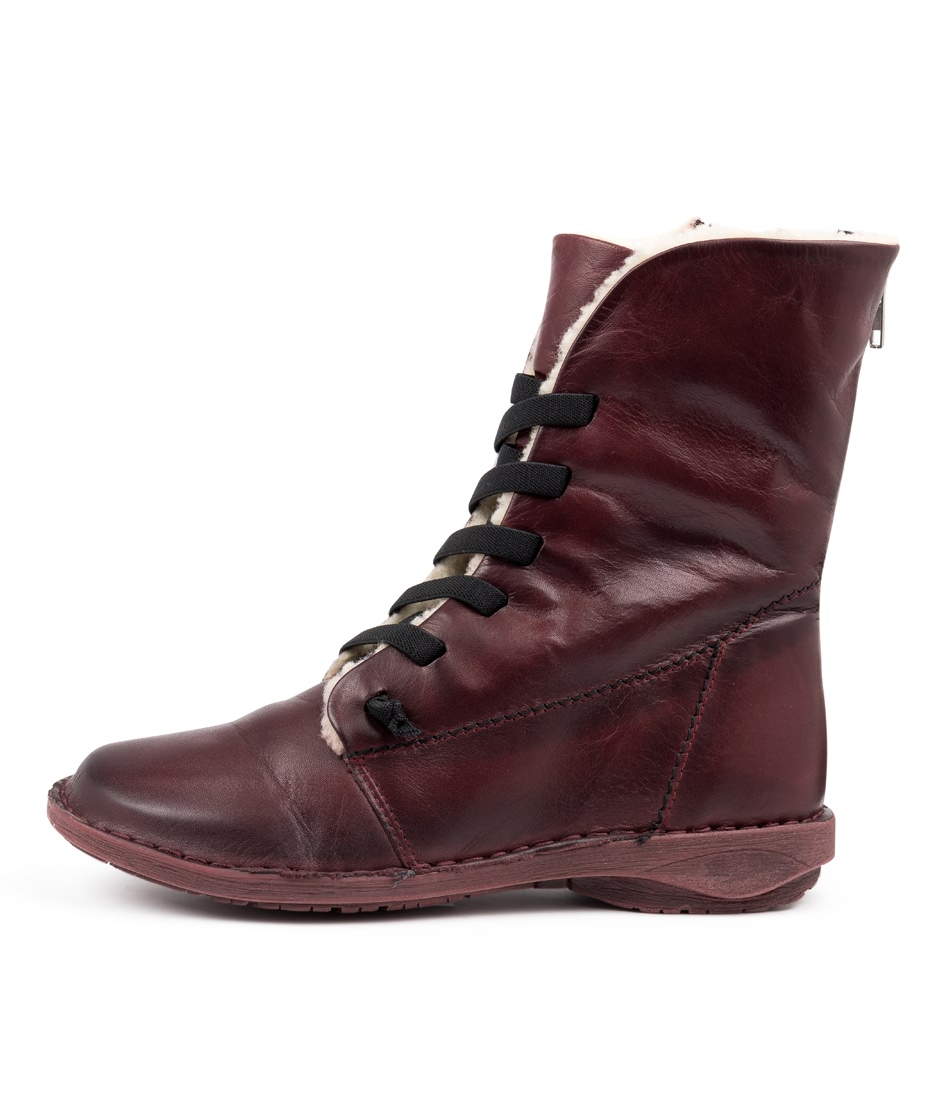 Buy Effegie Panama W Wine Ankle Boots online with free shipping