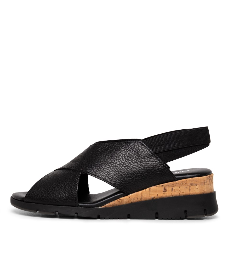 Buy Effegie Basquait W Black Heeled Sandals online with free shipping