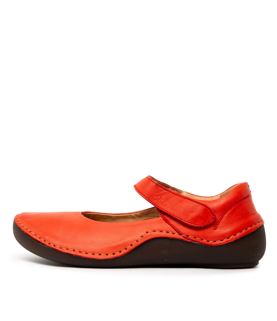 Buy Effegie Sal W Red Flats online with free shipping
