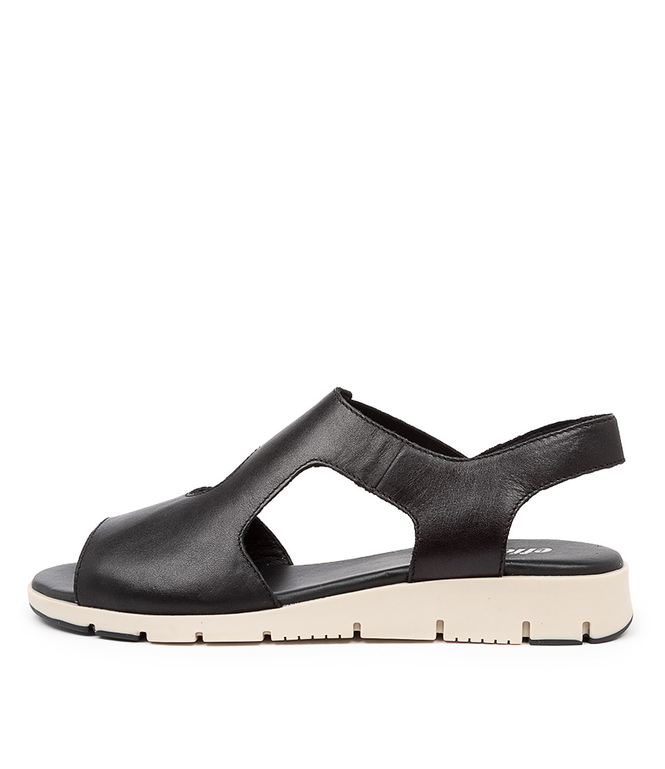 Buy Effegie Adalia W Ef Black Flat Sandals online with free shipping