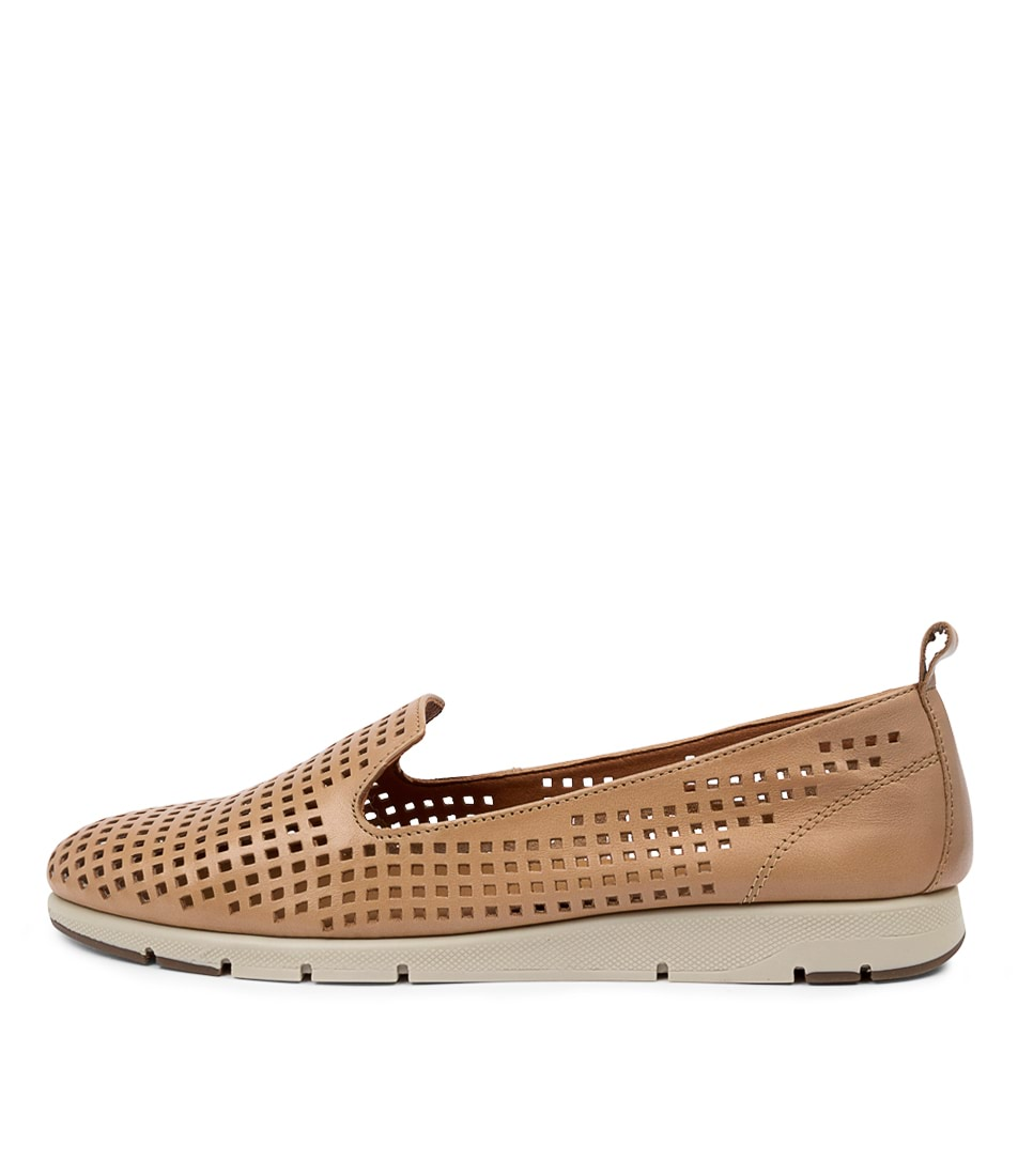 Buy Effegie Ariaperf W Ef Tan Flats online with free shipping