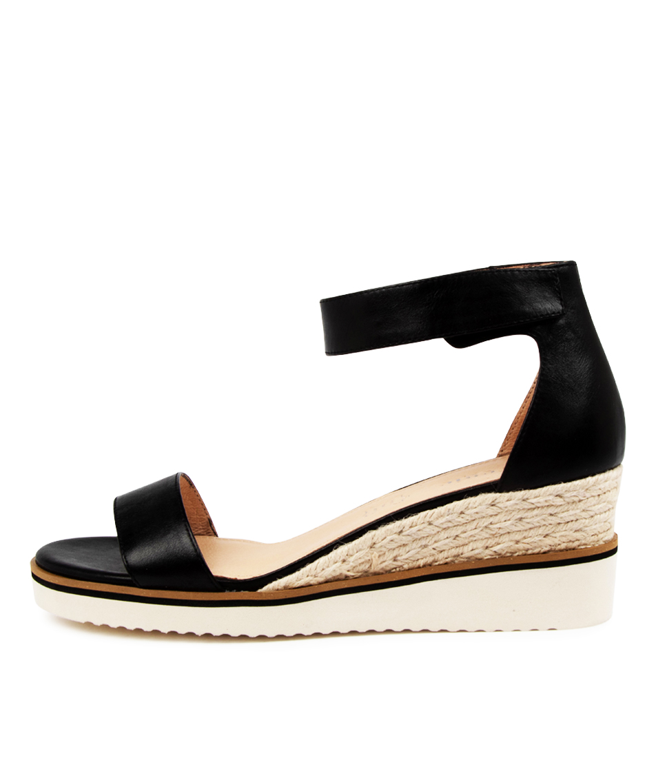 Buy Effegie Lazy W Ef Black Heeled Sandals online with free shipping