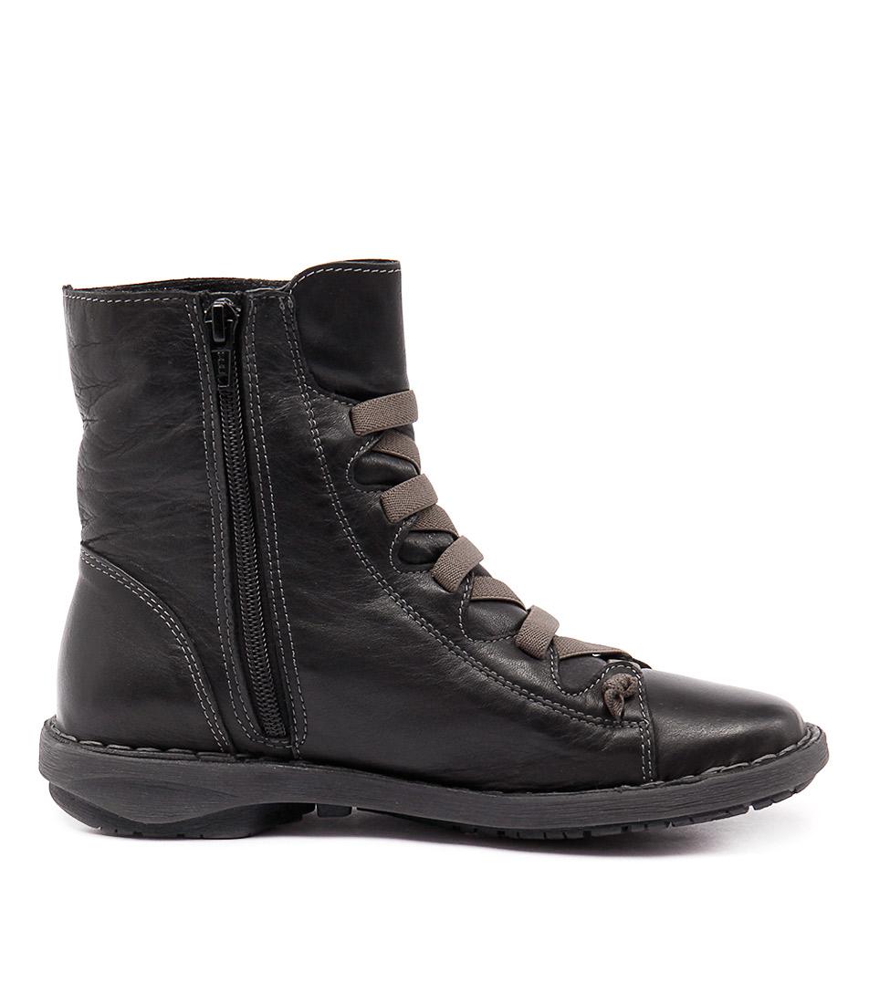 New Effegie Subai Black Womens Shoes Comfort Boots Ankle