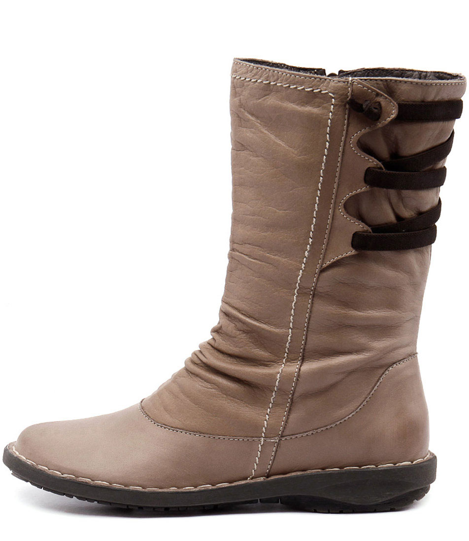 Effegie Subali W Taupe Boots Womens Shoes Comfort Long Boots