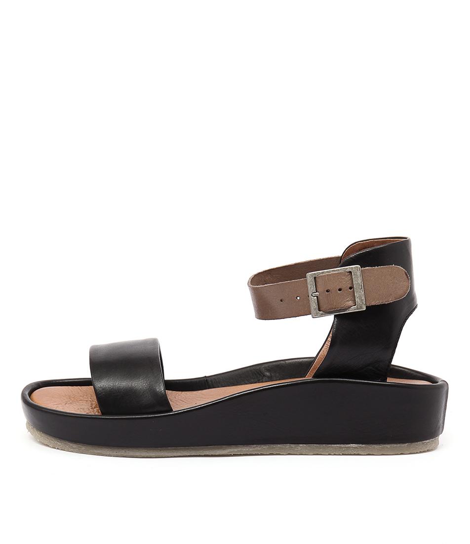 Effegie Aria W Black Taupe Sandals