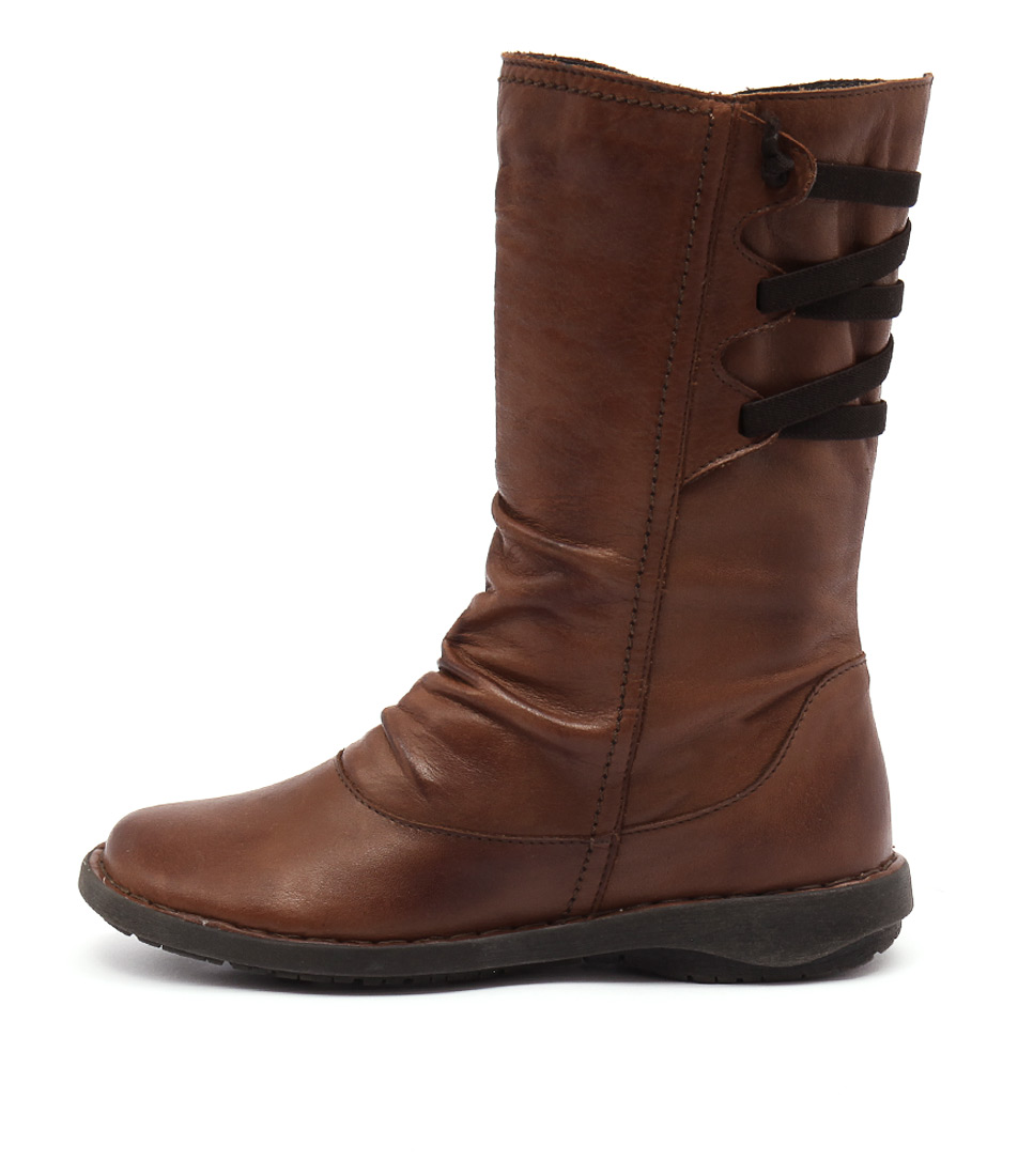 Effegie Subali W Brandy Boots Womens Shoes Comfort Long Boots
