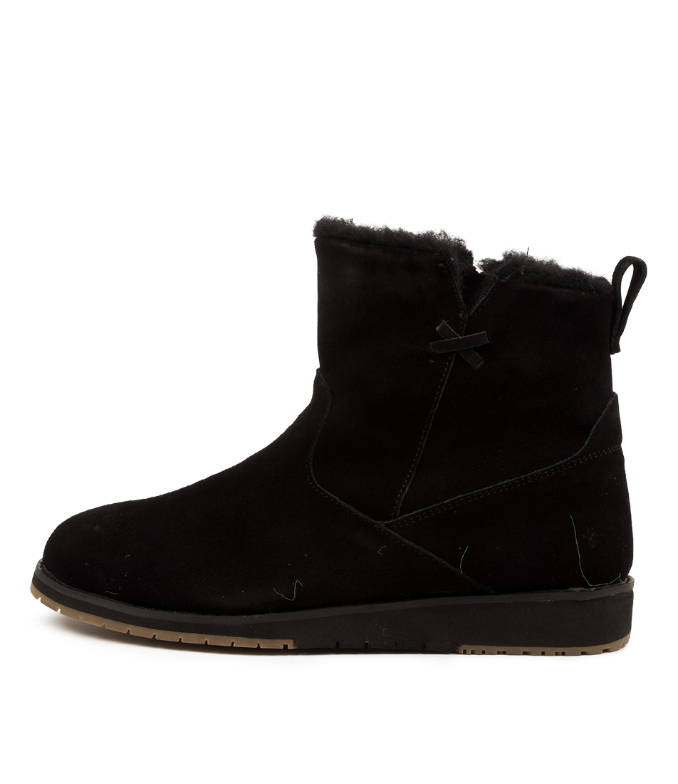 Buy Emu Australia Beach Mini Black Comfort Ankle Boots online with free shipping