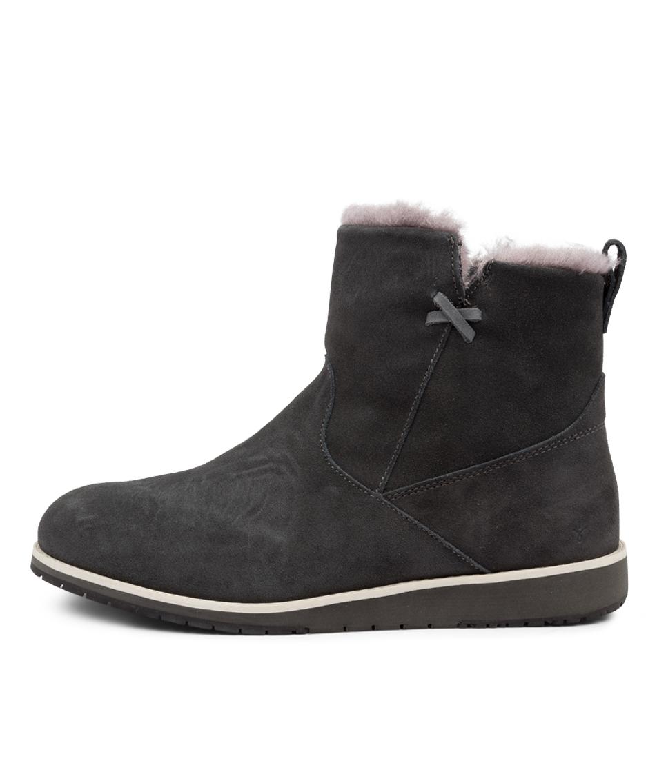 Buy Emu Australia Beach Mini Dark Grey Ankle Boots online with free shipping