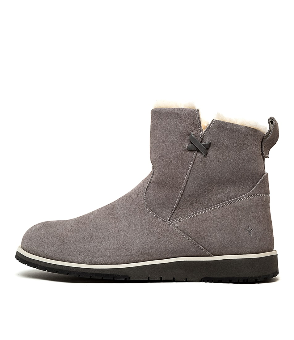 Buy Emu Australia Beach Mini Dove Grey Ankle Boots online with free shipping