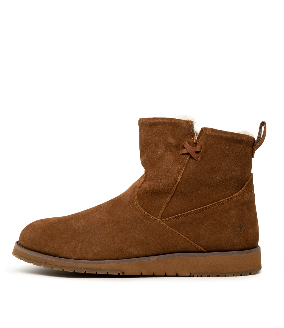 Buy Emu Australia Beach Mini Chestnut Ankle Boots online with free shipping