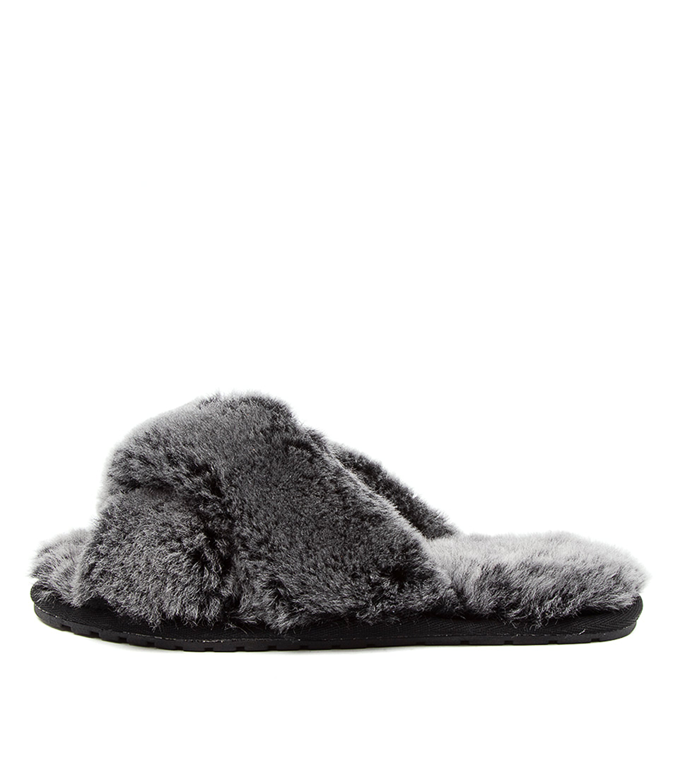 Buy Emu Australia Mayberry Frost Black Flat Sandals online with free shipping