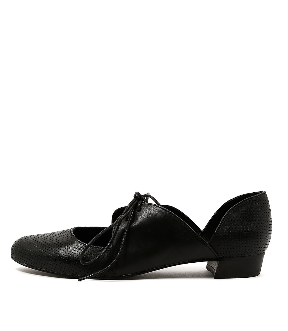 Django & Juliette Encino Black Flat Shoes