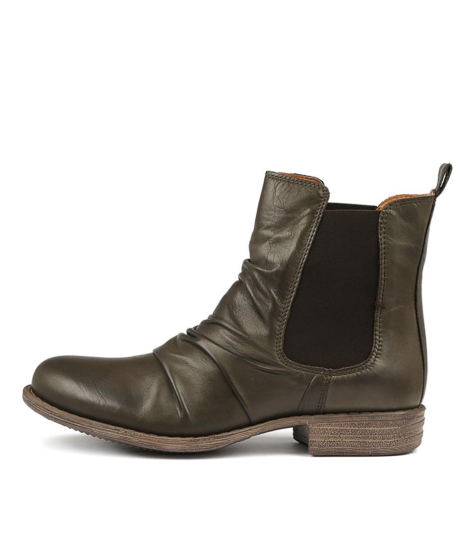 Eos Willo W Khaki Ankle Boots