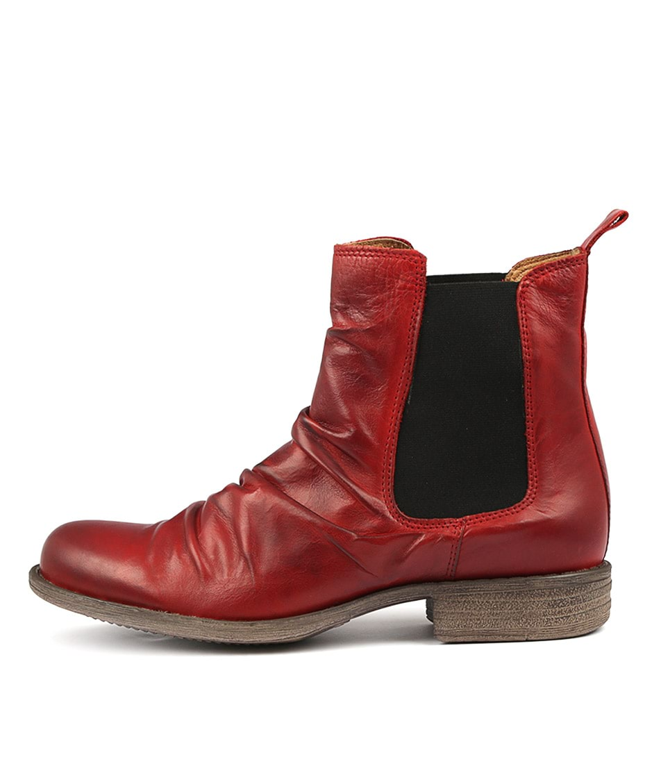 Buy Eos Willo W Red Ankle Boots online with free shipping