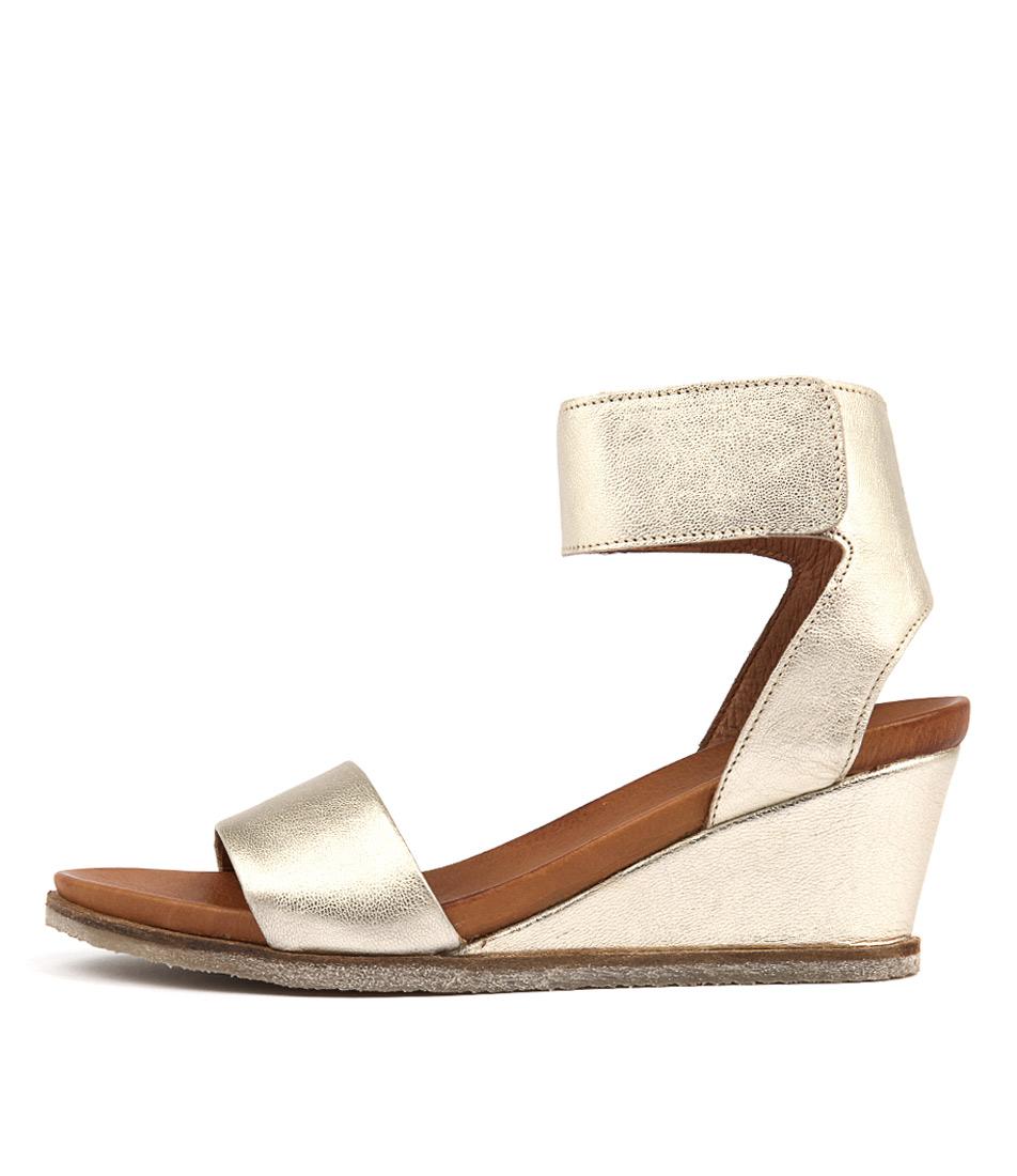 Eos Emma W Champagne Heeled Sandals