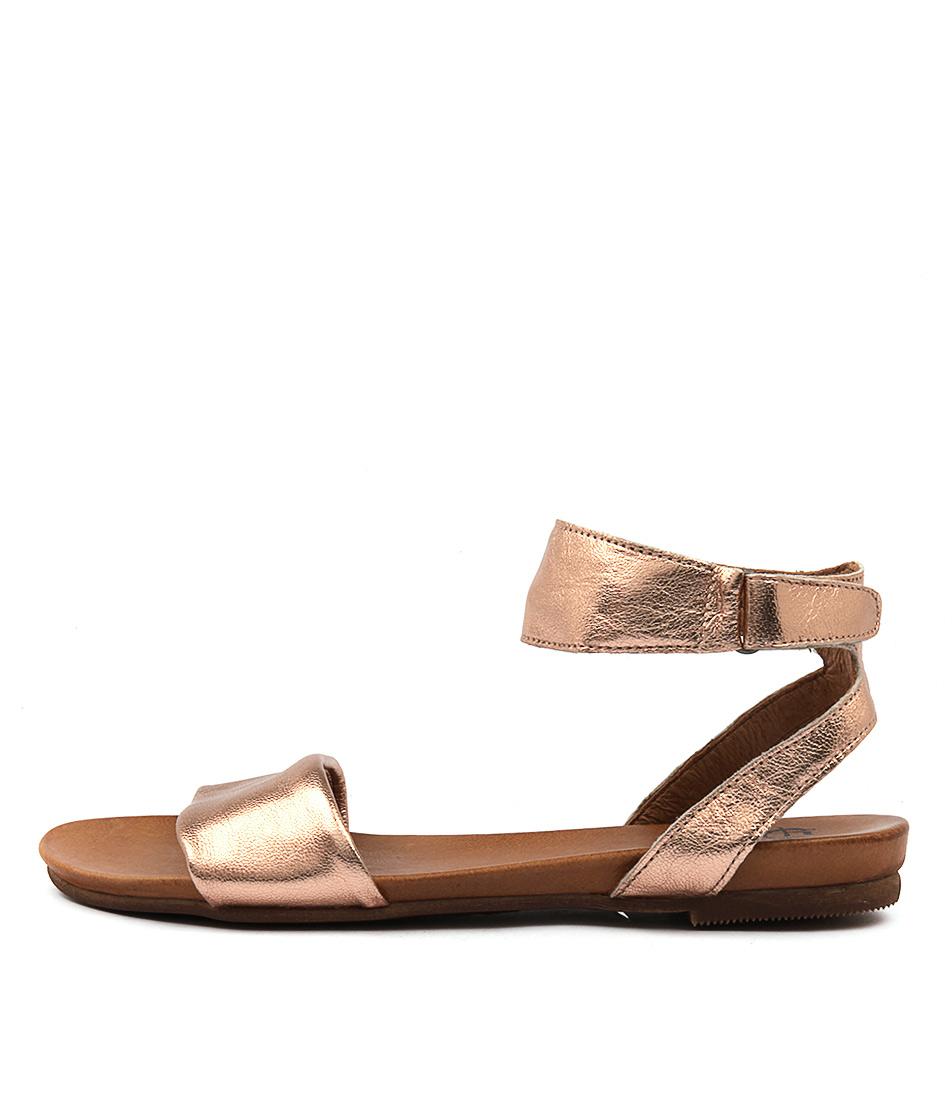 Eos Lauren W Rose Gold Casual Flat Sandals