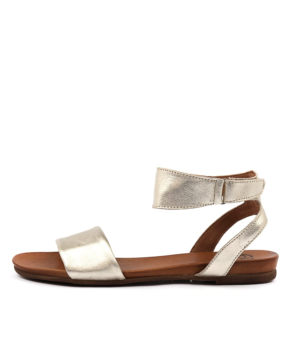 Eos Lauren W Champagne Casual Flat Sandals